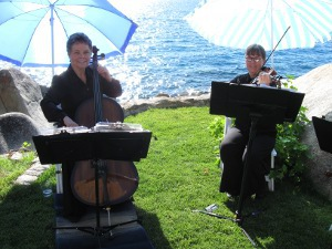 Sierra Strings, wedding music in Tahoe Duo by Lake